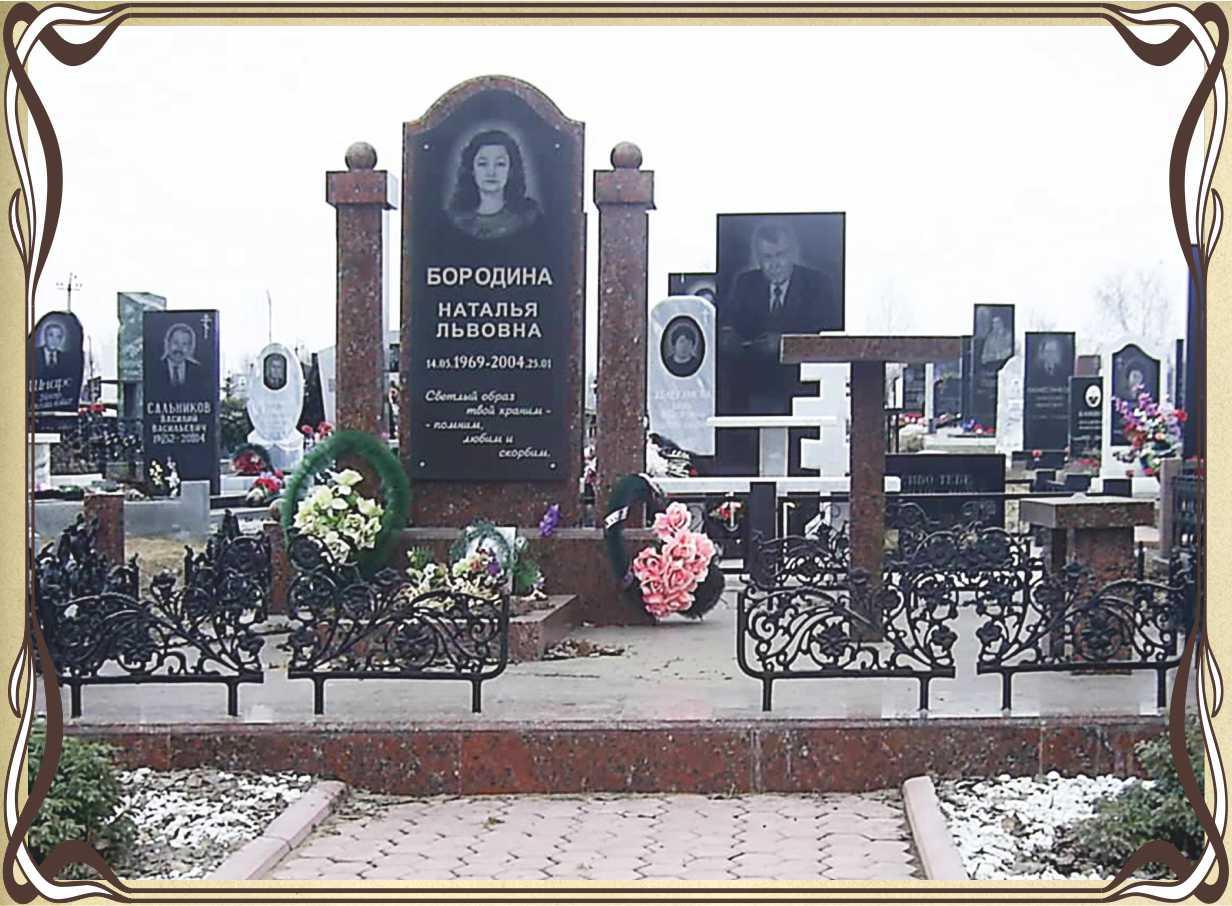 Памятник из цветного гранита Владыкино (14 линия) Резные памятники Выхино